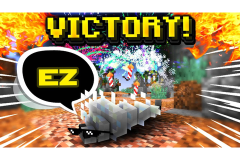 SILVERFISH WINS ME THE GAME! (Minecraft Skywars) - YouTube
