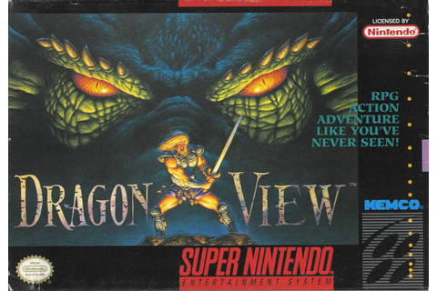 Drakkhen 2 Dragon View SNES Super Nintendo