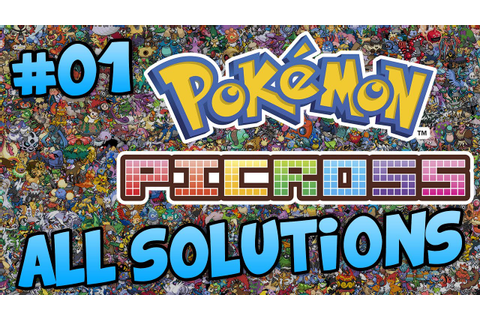 POKEMON PICROSS - AREA 01 ALL SOLUTIONS - YouTube