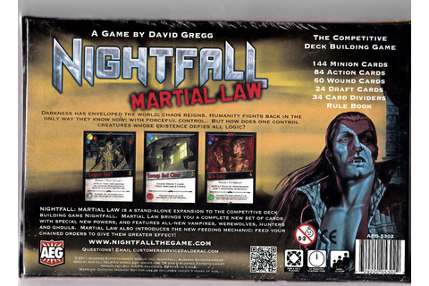 Nightfall: Martial Law - AEG Games - Board Game New / NIB ...