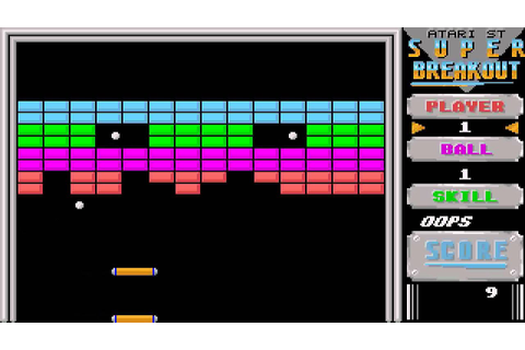 ATARI ST SUPER BREAKOUT OTHER 4GAMESN1 BREAK OUT CAVITY ...