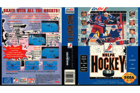 EA NHLPA Hockey 93 (Sega Genesis) - YouTube