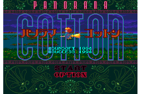Panorama Cotton (1994) by Success Mega Drive game