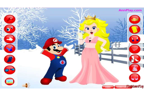 Mario & Princess Peach Dress Up Games - Free Online - YouTube