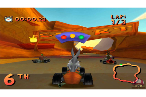 Gameplay: Looney Tunes Racing (PS1) - YouTube