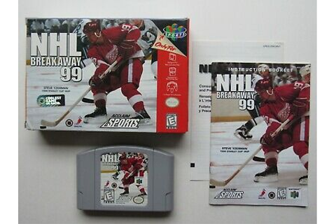NHL Breakaway 99 Nintendo 64 N64 Complete In Box CIB ...