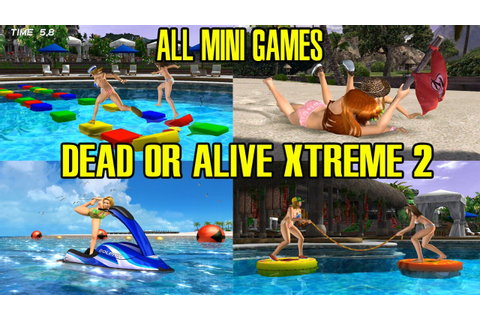 Dead Or Alive Xtreme 2 All Mini Games Gameplay - YouTube