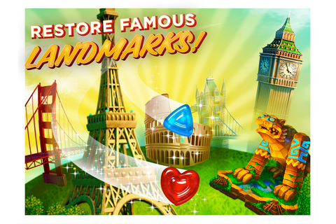 Gummy Drop! Travel the World! Play on iPad, iPhone and Android