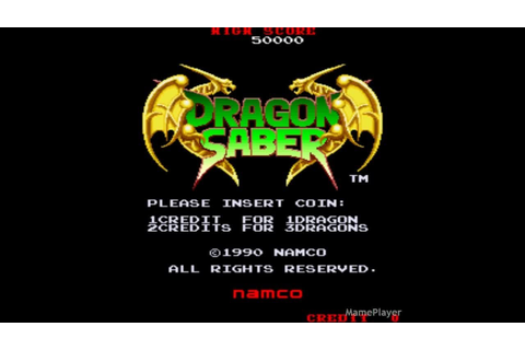 Dragon Saber (Demo) 1990 Namco Mame Retro Arcade Games ...