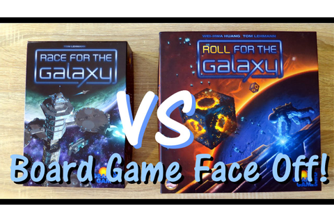 Race For The Galaxy VS Roll For The Galaxy - Board Game ...