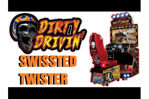 DIRTY DRIVIN' Swissted Twister ARCADE RACING GAME - YouTube