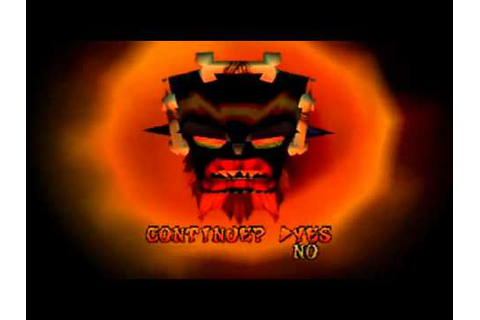 Crash Bandicoot 3 : WARPED Game Over - YouTube