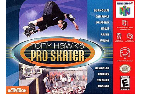 Tony Hawk's Pro Skater Nintendo 64 N64 Video Game Retro ...