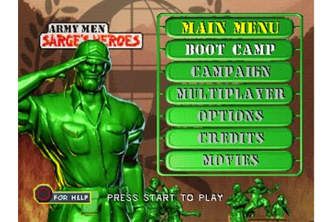 Army Men Sarges Heroes PS1 ISO - Download Game PS1 PSP ...