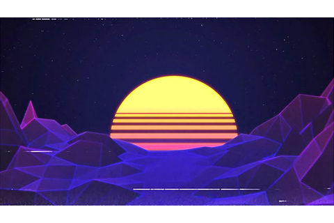 80s Retro. Retrowave. Sunset. Game. Stock Footage Video ...