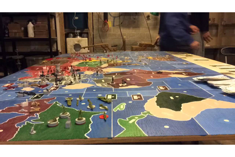 Axis and Allies- Giant game Time Lapse - YouTube
