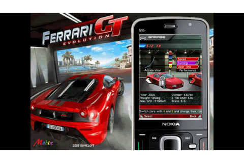 [HD] Gameloft 3D Ferrari GT Evolution Java Mobile Game ...