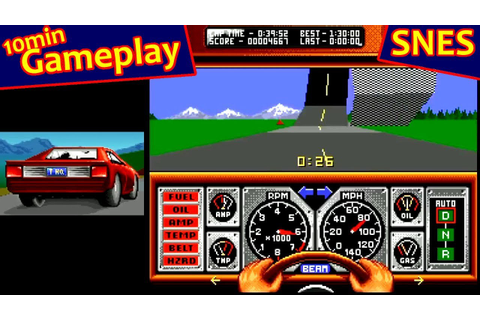 Race Drivin' ... (SNES) - YouTube