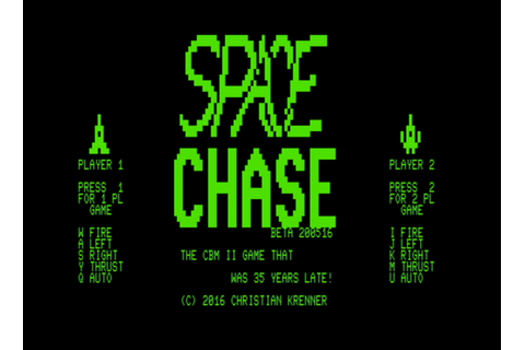 Final version of Space Chase for Commodore CBM II is out ...