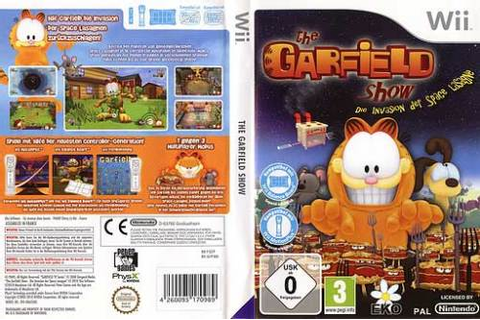 Games - THE GARFIELD SHOW THREAT OF THE SPACE LASAGNA GAME ...