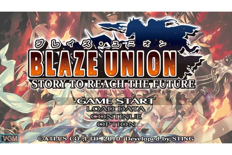Blaze Union - Story to Reach the Future for Sony PSP - The ...