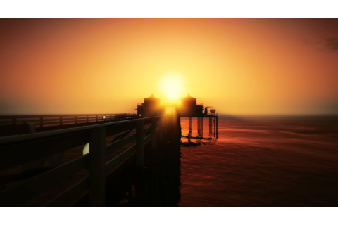 Grand Theft Auto V, In game, Environment, Sunset, Chumash ...