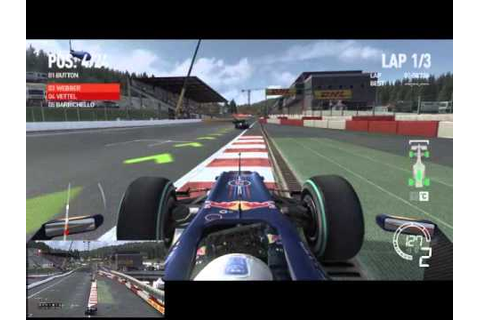 F1 2010 Red Bull Racing RB6 @ Circuit de Spa-Francorchamps ...
