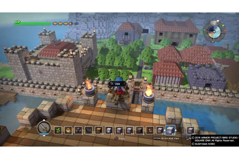 DRAGON QUEST BUILDERS town - YouTube