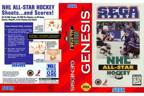 NHL All-Star 95 Genesis Box Art Cover by Merrulas