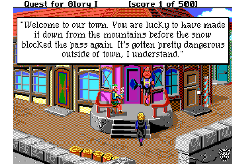 Quest for Glory: So You Want to Be a Hero – Sierra Classic ...