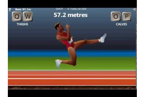 QWOP - Running 100m (Unfitting Music) - YouTube