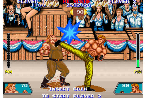 Violence Fight arcade video game by Taito Corp. (1989)