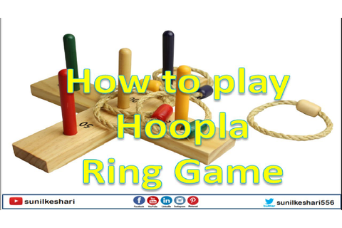 how to play hoopla ring game - YouTube