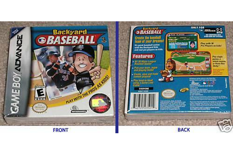 BACKYARD BASEBALL *ORIGINAL* Gameboy Advance gba *NEW ...