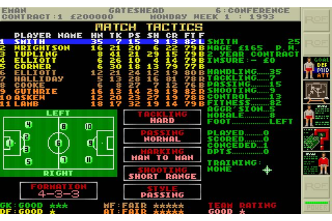 Download Premier manager 2 sports for DOS (1993 ...