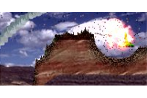 Scorched Earth game with artillery combat tanks - Atomic ...