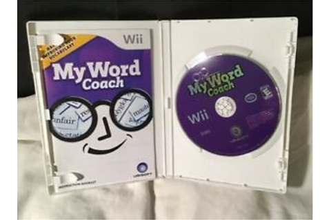 My Word Coach (Nintendo Wii, 2007) .. Clean Tested video ...
