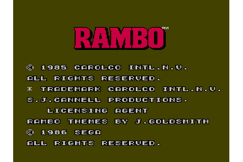 Rambo - First Blood Part 2 Download Game | GameFabrique