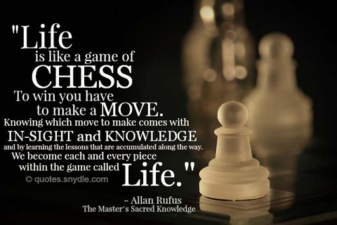 motivational/Chess inspirational famous quotes