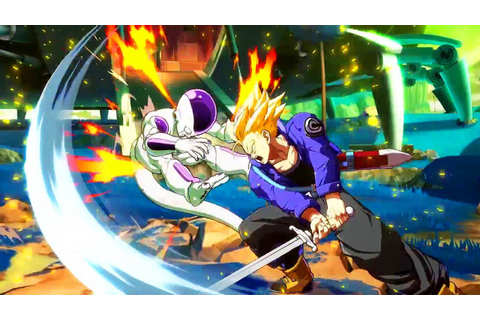DRAGON BALL FIGHTERZ Trunks Gameplay - YouTube
