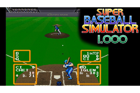 Super Baseball Simulator 1.000 ... (SNES) - YouTube