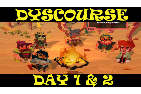 Let's Play Dyscourse Part 1 - Day 1 & 2 - YouTube