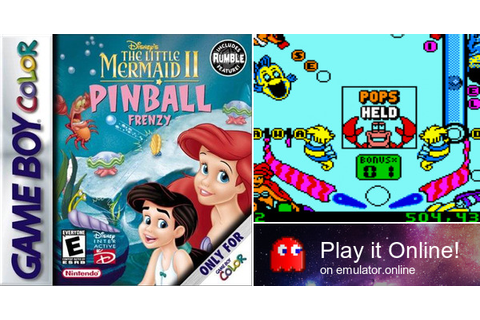 Play Disney's The Little Mermaid 2: Pinball Frenzy on Game Boy