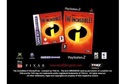 The Incredibles Video Game Advert (2005) - YouTube