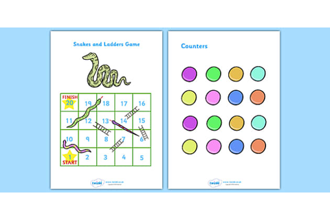 FREE! - Snakes And Ladders (1-20) - snakes and ladders, 1 ...