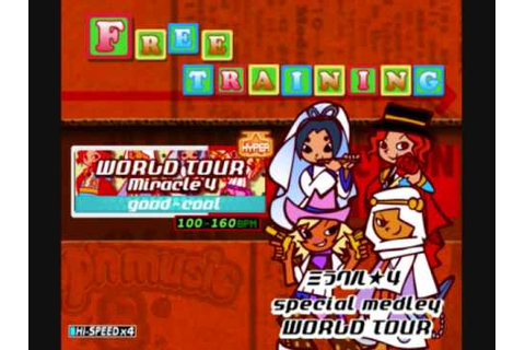 POP'N MUSIC 8 - WORLD TOUR - MIRACLE 4 - good-cool - YouTube
