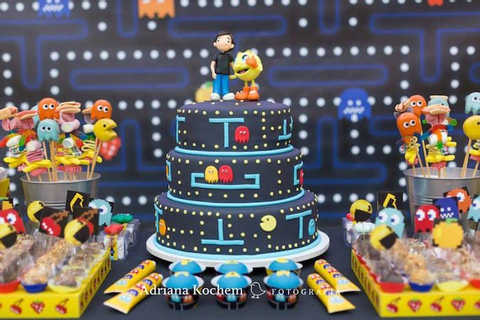 Pac-Man Video Game Birthday Party | Party | Pac man cake ...