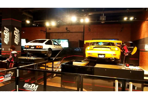 Initial D 4th Stage - Arcade With Real Cars Odaiba Japan ...