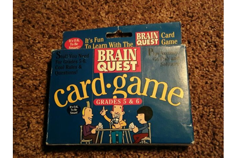 Brain Quest Card Game for Grades 5 & 6 | eBay