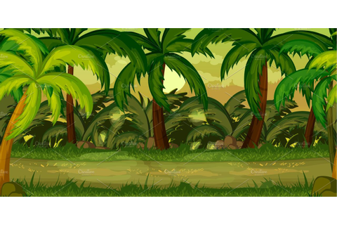 Jungle Game Background ~ Illustrations ~ Creative Market